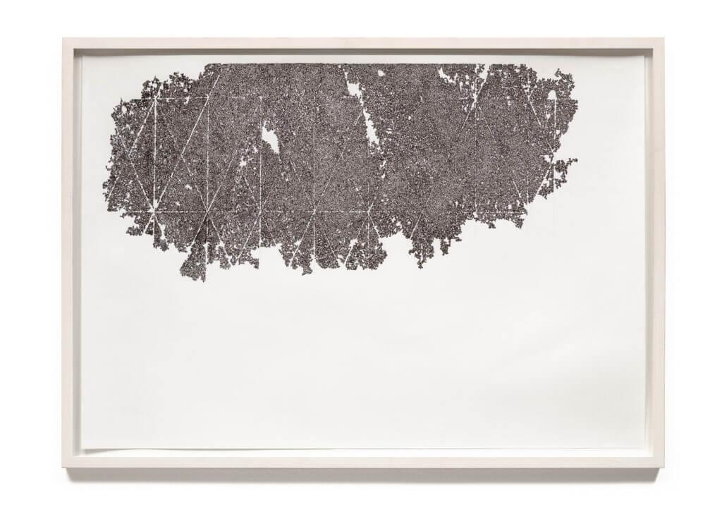 Dorthe Goeden Tuschezeichnung gerahmt Addaux Artist Gallery Paperwork 2014