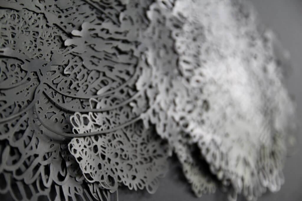 Dorthe Goeden Papierschnitt Collage Addaux Artist Gallery Paperwork 2017