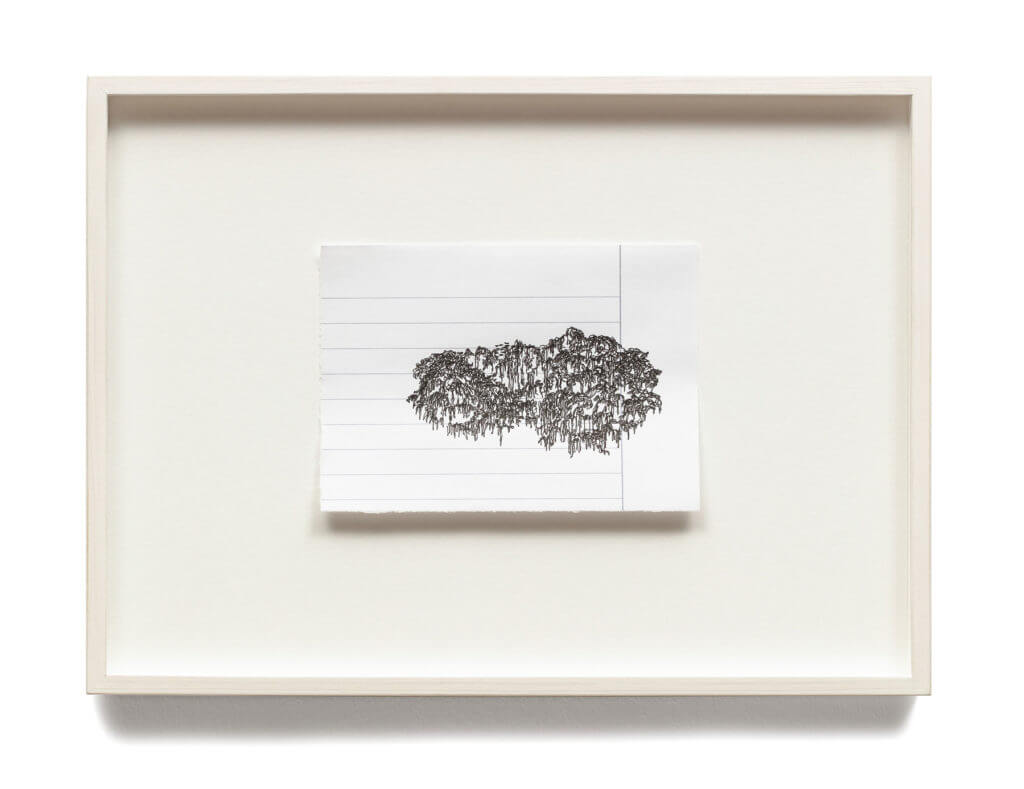 Dorthe Goeden Tuschezeichnung gerahmt Addaux Artist Gallery Paperwork 2016