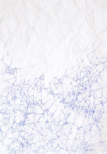 Ail Hwang Artist Addaux Bielefeld Duesseldorf Unglatt Stift auf Steinpapier 2016
