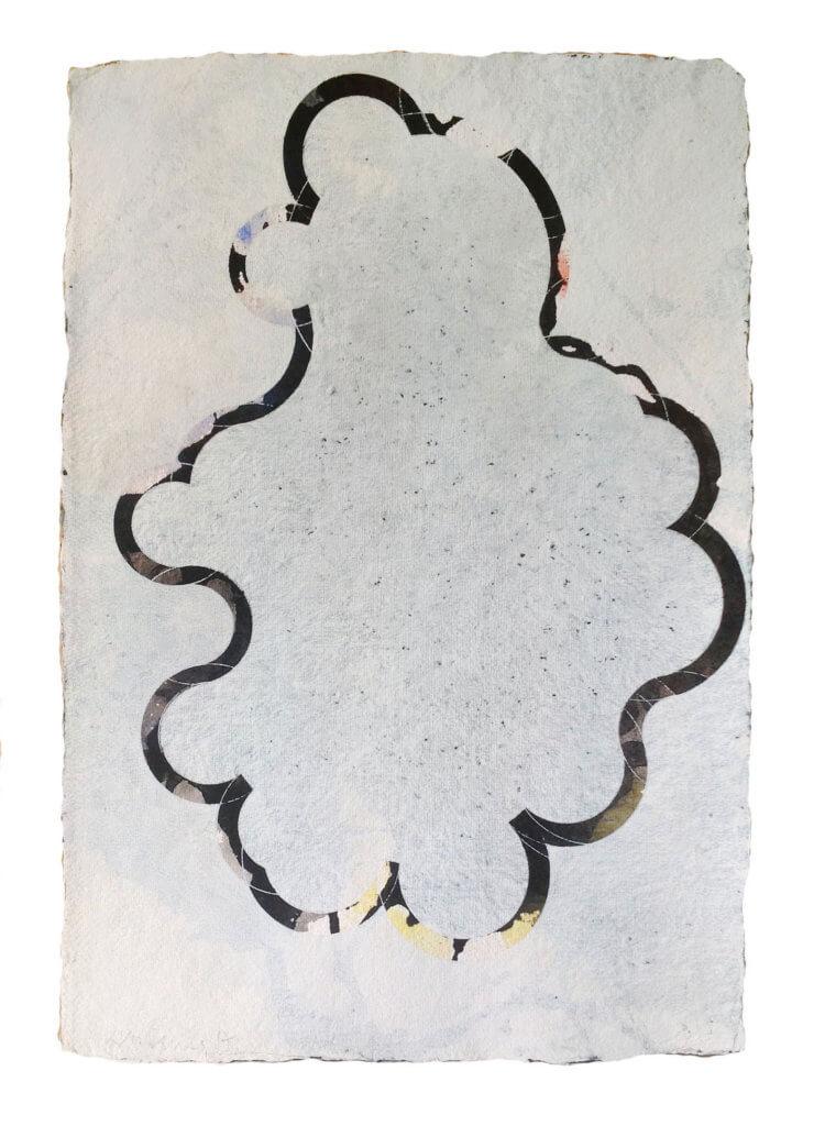 Jobst Tilmann, Les Bords, Tusche, Gouache, Bütten, Papierarbeit, konkrete Kunst, Addaux, Bielefeld, Galerie, Kunst, Künstler, 2017, Rheda-Wiedenbrück