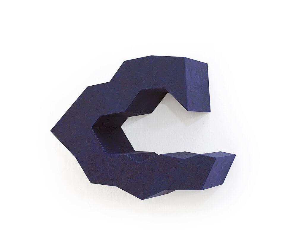 Jobst Tilmann, Sphères, blau, Wandobjekt, Karton, Papierarbeit, konkrete Kunst, Addaux, Bielefeld, Galerie, Kunst, Künstler, 2018, Rheda-Wiedenbrück