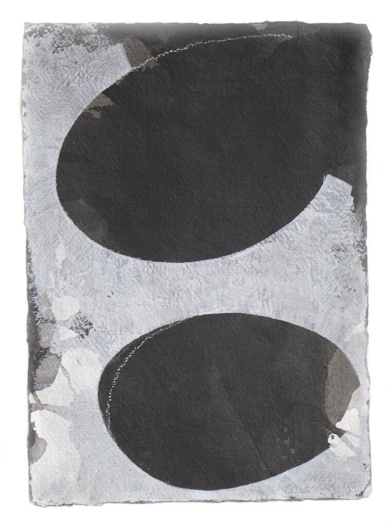 Jobst Tilmann, Tache, Chinatusche, Gouache, Bütten, Papierarbeit, konkrete Kunst, Addaux, Bielefeld, Galerie, Kunst, Künstler, 2015, Rheda-Wiedenbrück