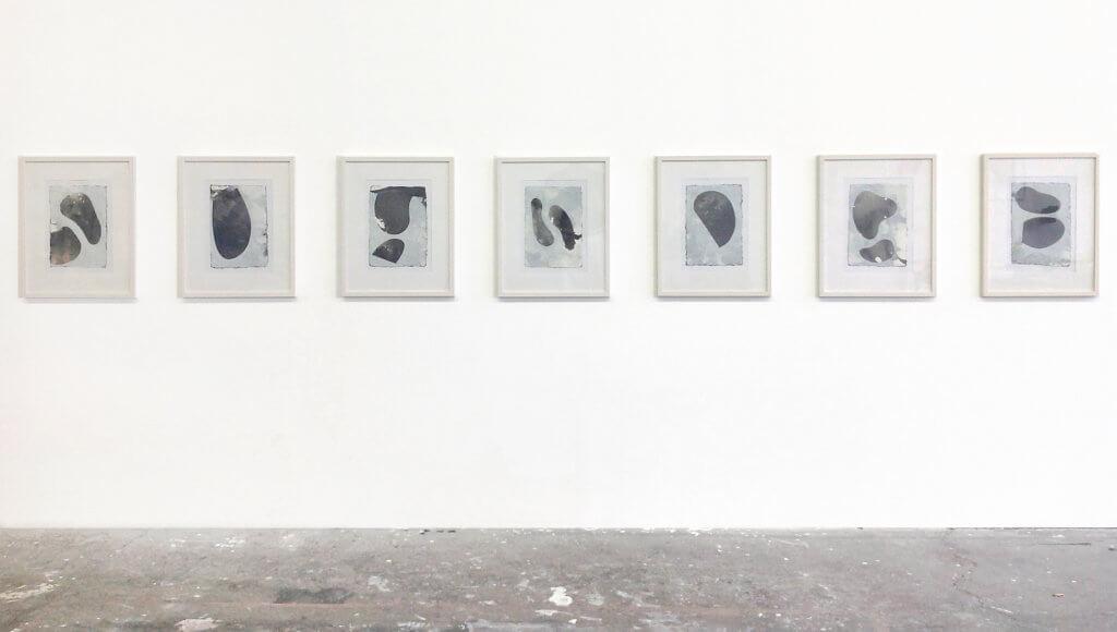 Jobst Tilmann Taches, Chinatusche, Gouache, Bütten, Papierarbeit, konkrete Kunst, Addaux, Bielefeld, Galerie, Kunst, Künstler, 2015, Rheda-Wiedenbrück