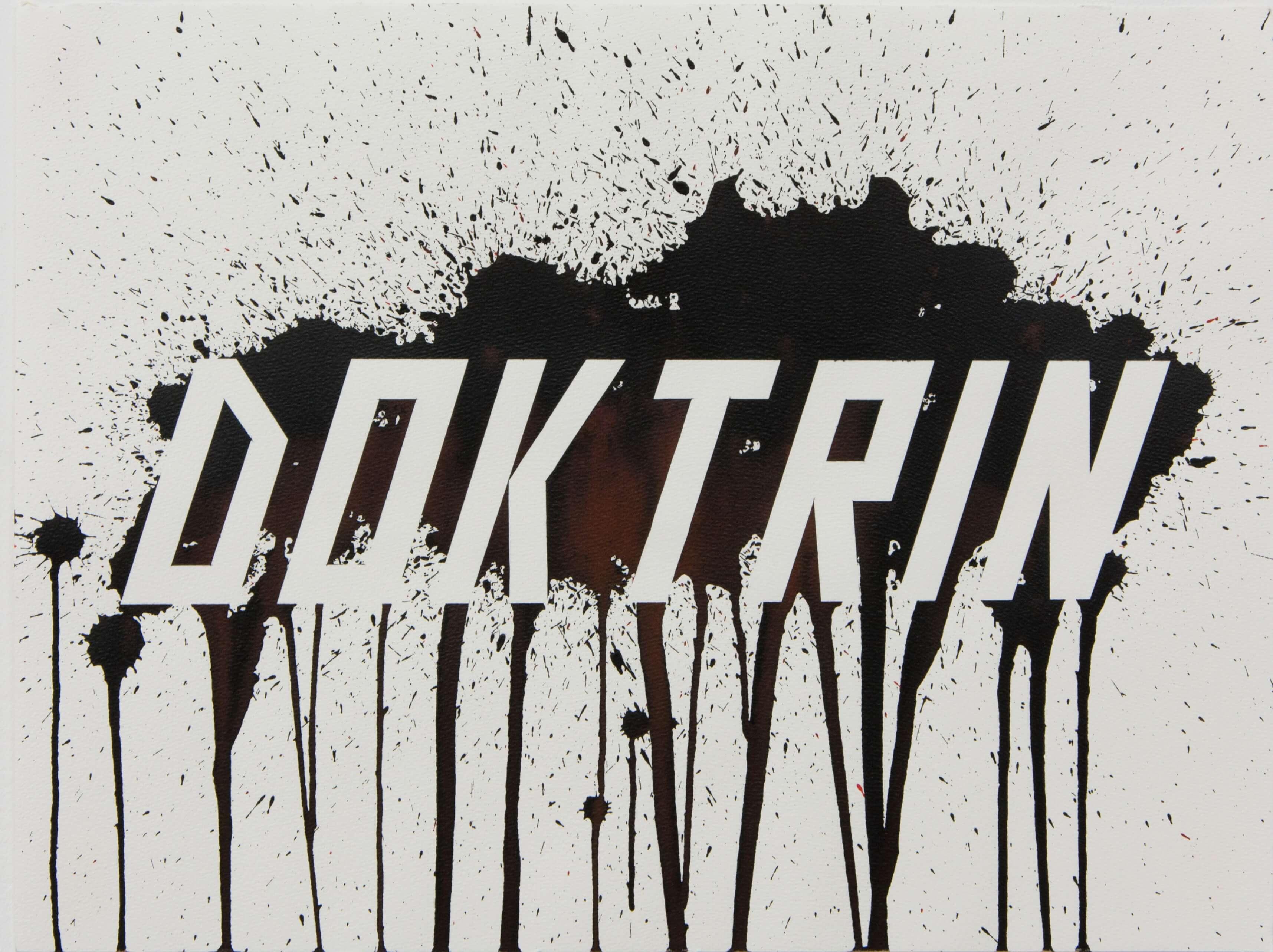 Lars Breuer Doktrin Tusche Aquarell Papierarbeit 2014 Addaux Artist Bielefeld Berlin Düsseldorf Grafik Schrift Galerie