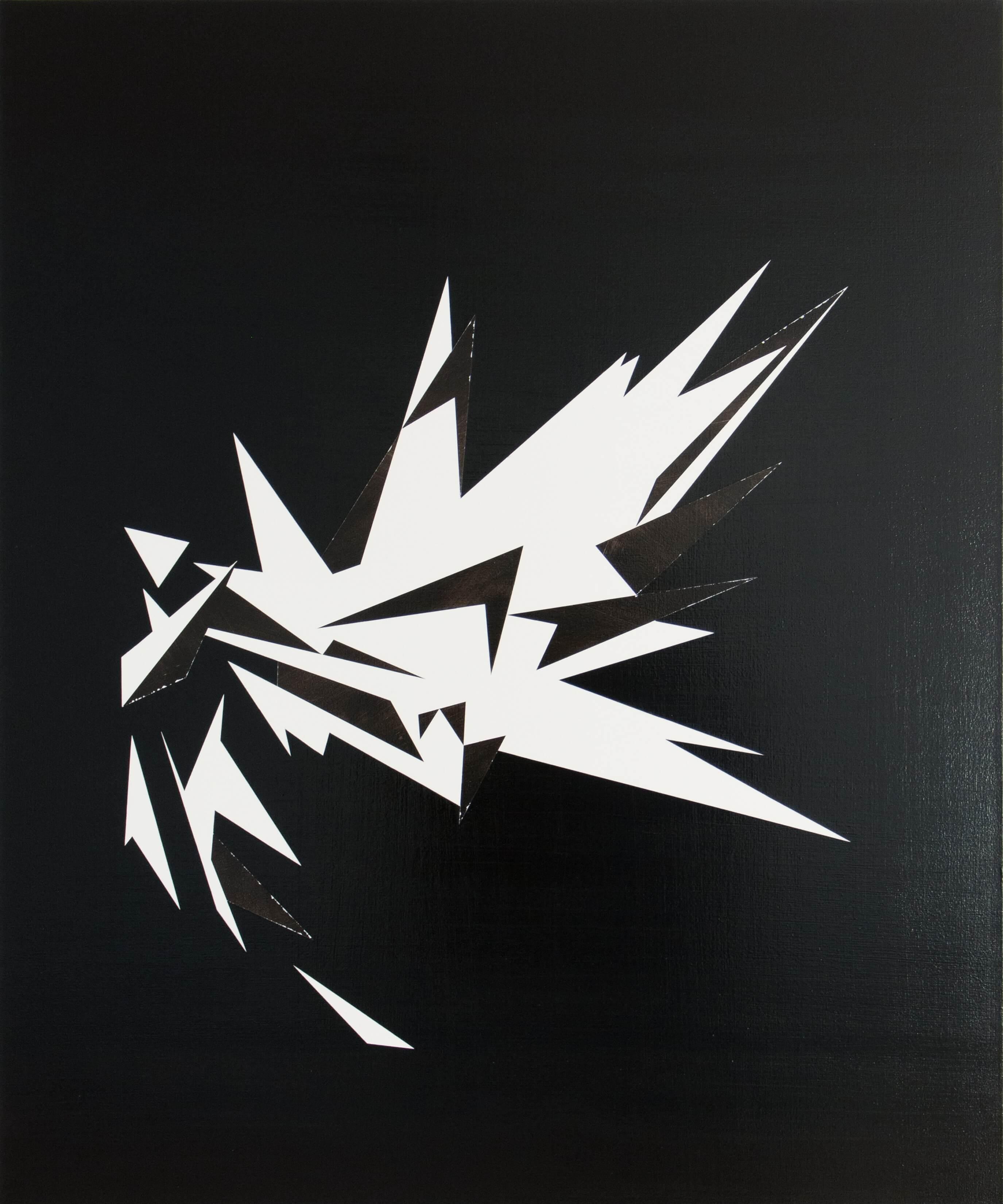 Lars Breuer Esplosione Leinwand 2014 Addaux Artist Bielefeld Berlin Düsseldorf Grafik Schrift Galerie