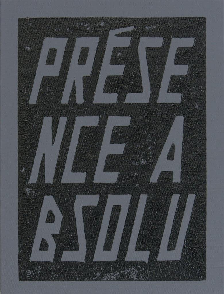 Lars Breuer Presence Absolu Baumwolle 2013 Addaux Artist Bielefeld Berlin Düsseldorf Grafik Schrift Galerie